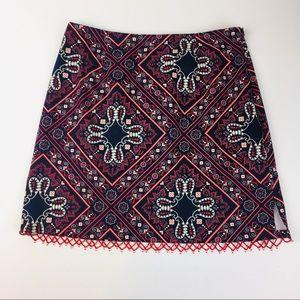 NWT Boston Proper Beaded Hem Skirt Size 8